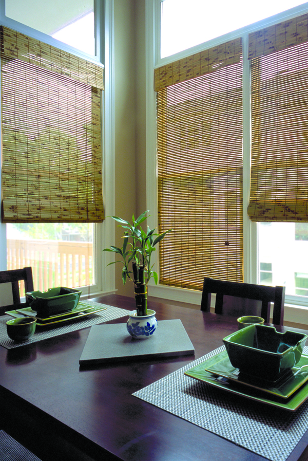 Woven Wood Corner Office